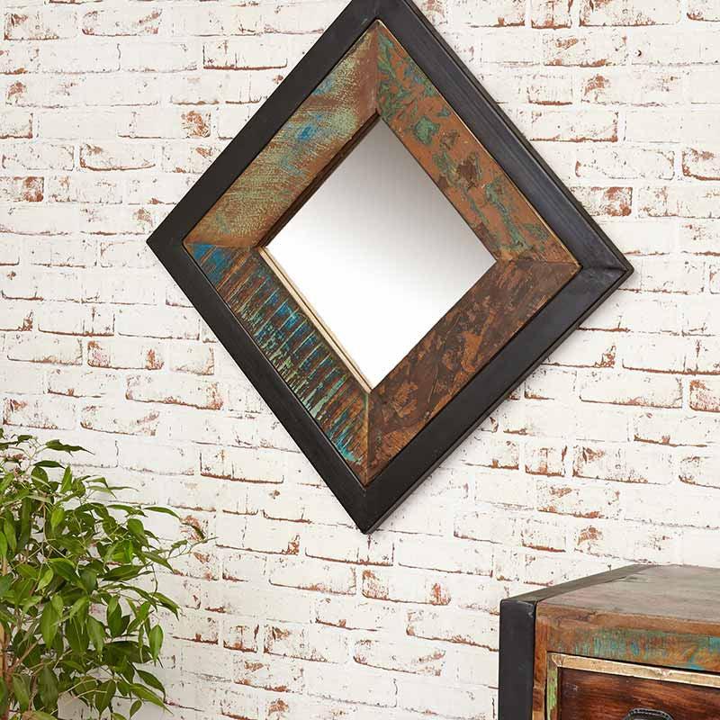 Urban Chic Reclaimed Wood Mirror Small (Hangs landscape or portrait)-Mirror- Space & Shape