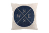 Space & Shape Dark Blue Compass Cushion -  - Cushion - JHS - Space & Shape - 1