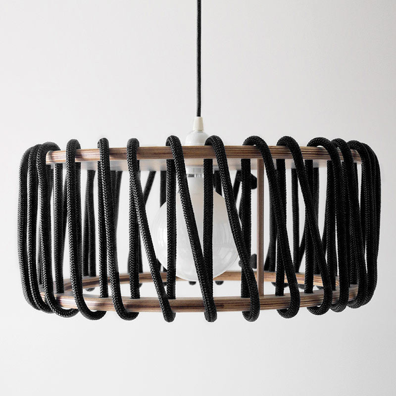 Macaron Oak Lamp, Black-Lights- Space & Shape