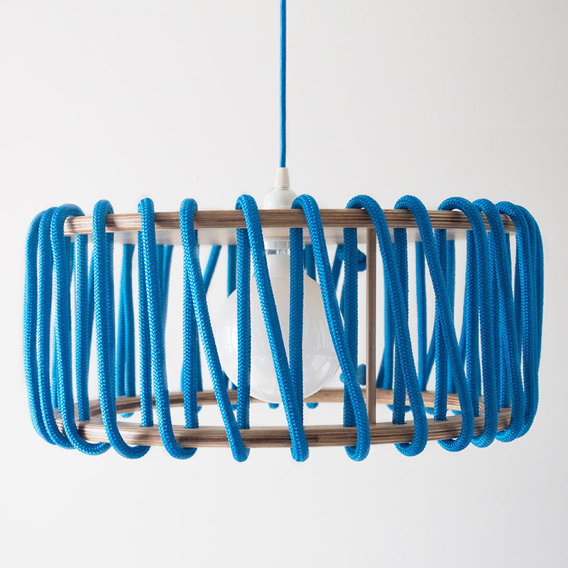 Macaron Oak Lamp, Blue-Lights- Space & Shape