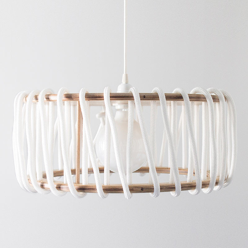 Macaron Oak Lamp, White-Lights- Space & Shape