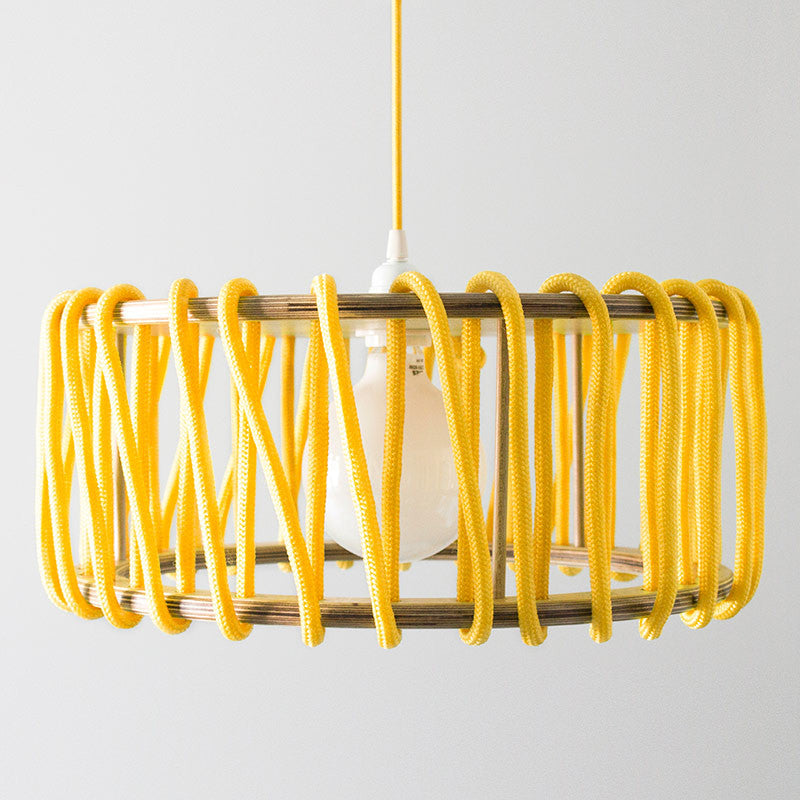 Macaron Oak Lamp, Yellow-Lights- Space & Shape