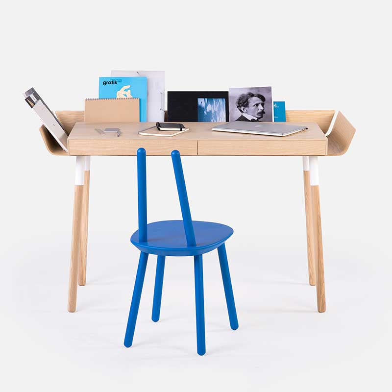 My Writing Home Office Desk 2 drawers / Natural ash wings-Office Desk- Space & Shape