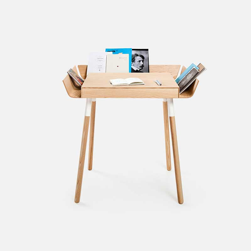 My Writing Home Office Desk 1 drawer / Natural ash wings-Office Desk- Space & Shape