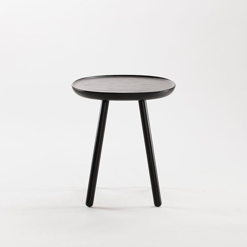 Naive Wooden Side Table, Black (3 Sizes)-Coffee table- Space & Shape
