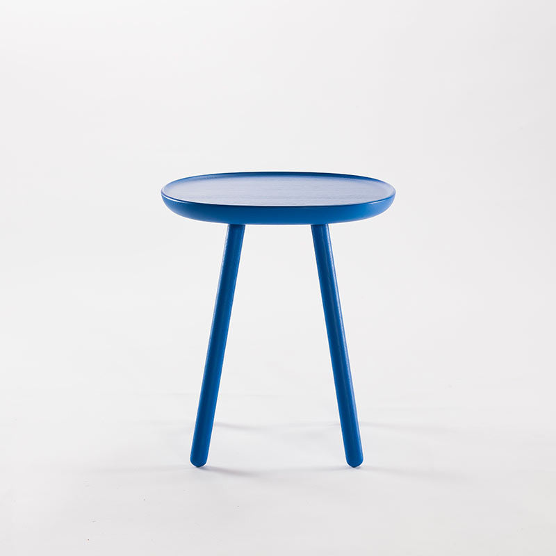 Naive Wooden Side Table, Blue (3 Sizes)-Coffee Table- Space & Shape