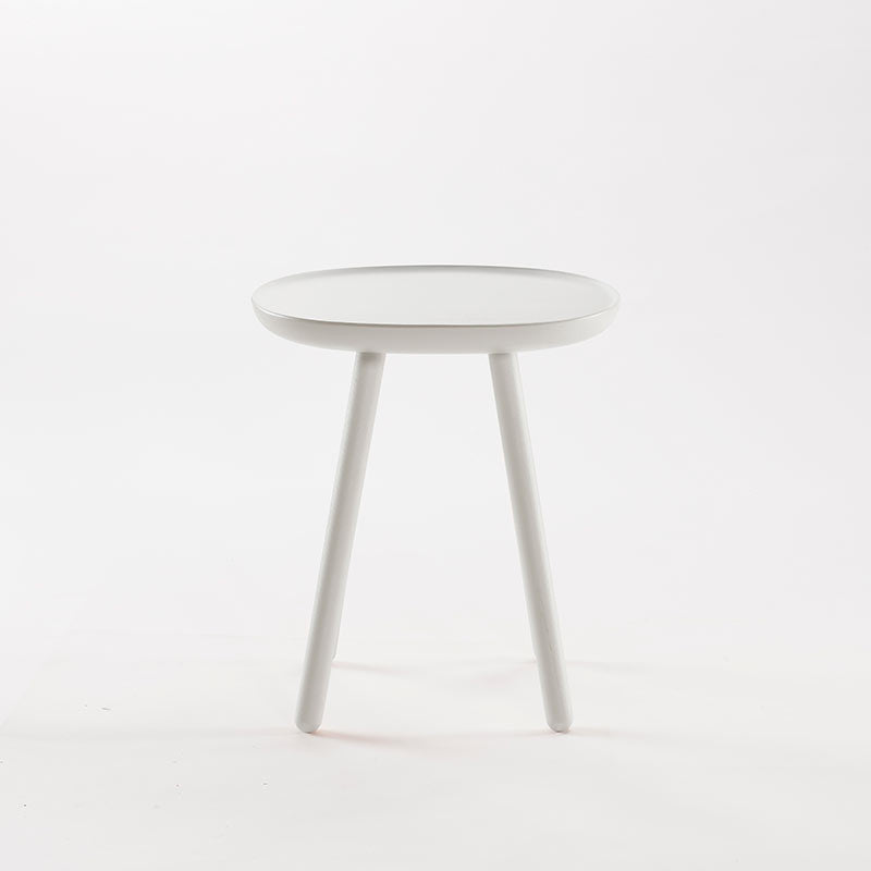 Naive Wooden Side Table, White (3 Sizes)-Coffee Table- Space & Shape