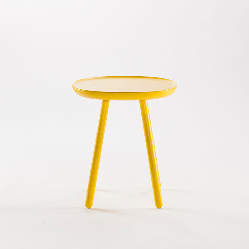 Naive Wooden Side Table, Yellow (3 Sizes)-Coffee Table- Space & Shape