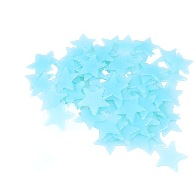100 Pieces Luminous Glowing Wall Stickers (4-colour options)-- Space & Shape