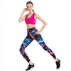 Abstract Light Art Yoga Fitness Legging-- Space & Shape