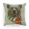 Bear with Scarf Cushion (6 Variants)-Homeware- Space & Shape