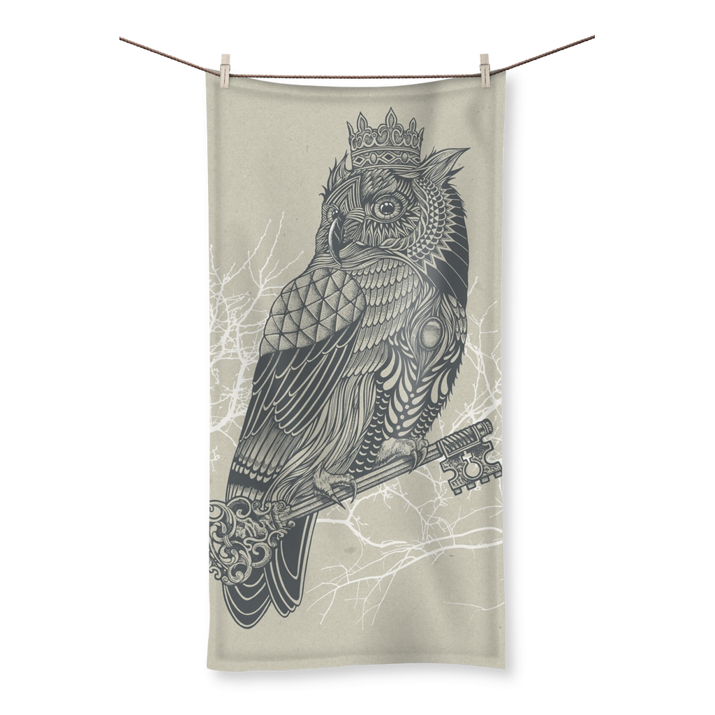 King Owl on Key Beach Towel (3 Sizes)