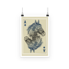 Horse Playing Card Poster (3 Sizes)-Wall Decor- Space & Shape