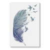 Birds & Feather Stretched Canvas (8 Sizes)