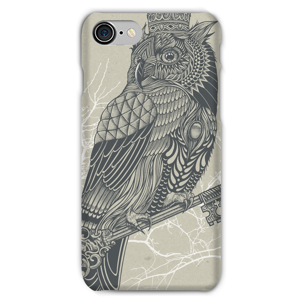 King Owl on Key Phone Case (iPhone & Samsung)-Phone & Tablet Cases- Space & Shape