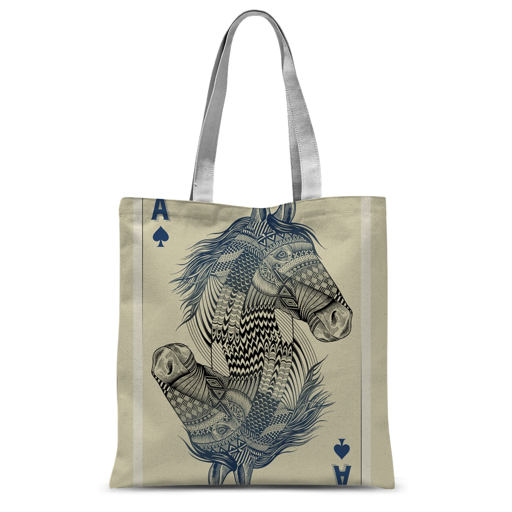 Horse Playing Card Tote Bag-Accessories- Space & Shape