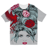 Girl with Roses Kids Sublimation T-Shirt (5 Sizes)