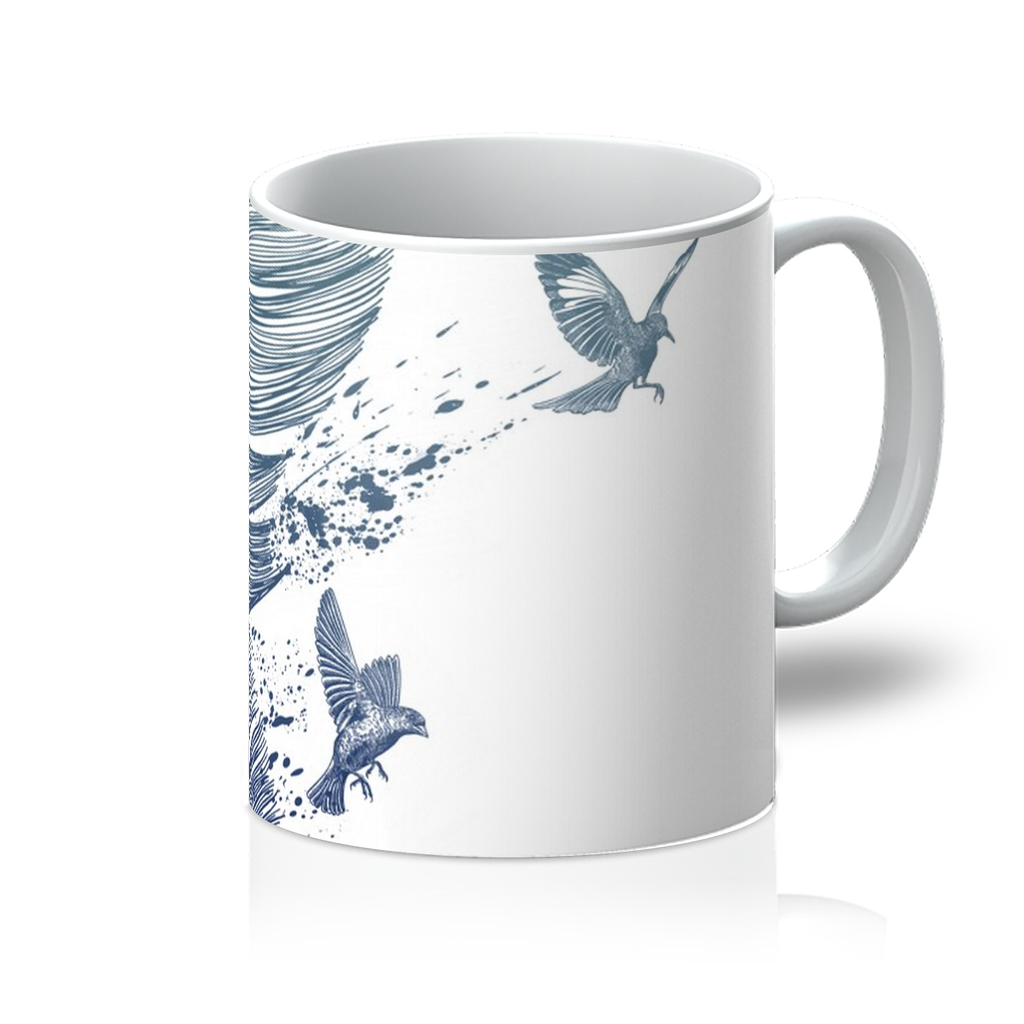 Birds & Feather Mug