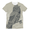 King Owl on Key Unisex Sublimation T-Shirt (5 Sizes)