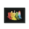 Ice Pops Framed Canvas (8 Sizes)-Wall Decor- Space & Shape
