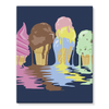 Ice Cream Stretched Canvas (8 Sizes)-Wall Decor- Space & Shape