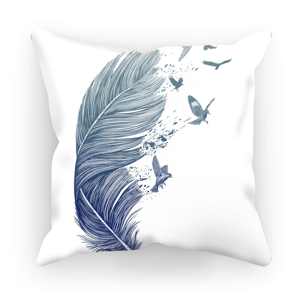 Birds & Feather Cushion (6 Variants)