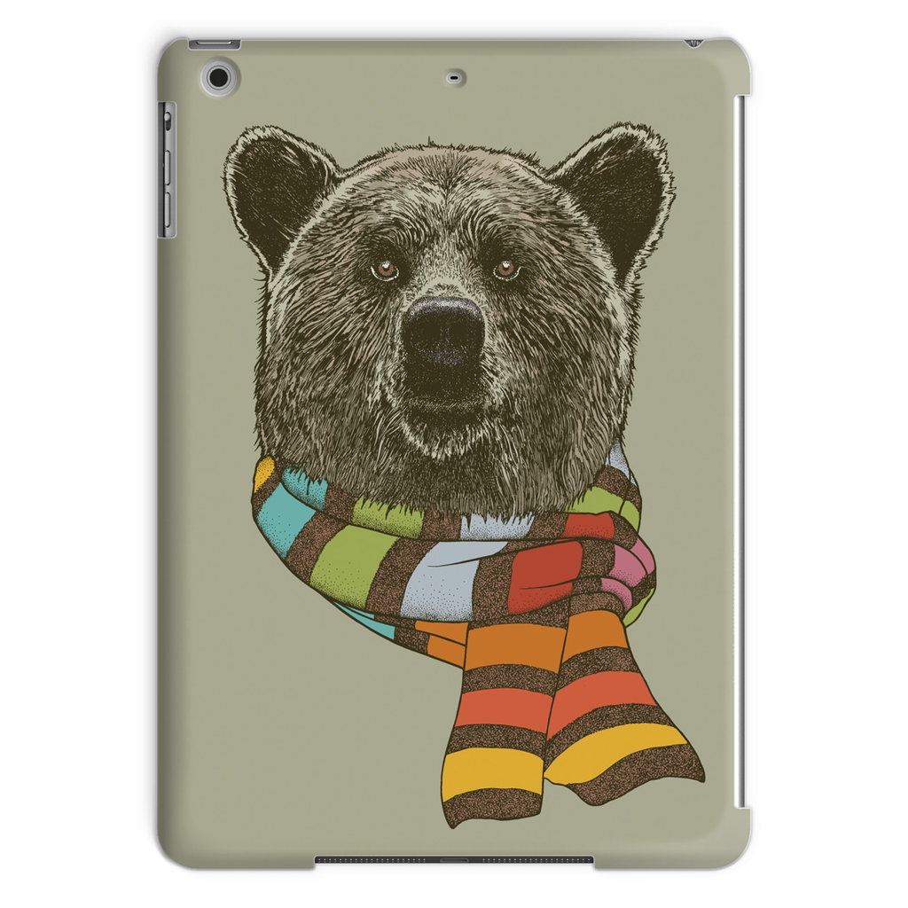 Bear with Scarf Tablet Case (iPad)-Phone & Tablet Cases- Space & Shape