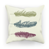 Colourful Feathers Cushion (6 Variants)