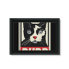 'Purr' Cat Framed Canvas (8 Sizes)-Wall Decor- Space & Shape