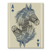 Horse Playing Card Stretched Canvas (4 Sizes)-Wall Decor- Space & Shape