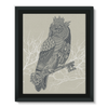 King Owl on Key Framed Canvas (5 Sizes)-Wall Decor- Space & Shape