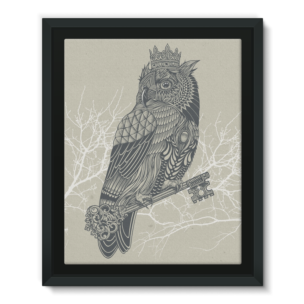 King Owl on Key Framed Canvas (5 Sizes)