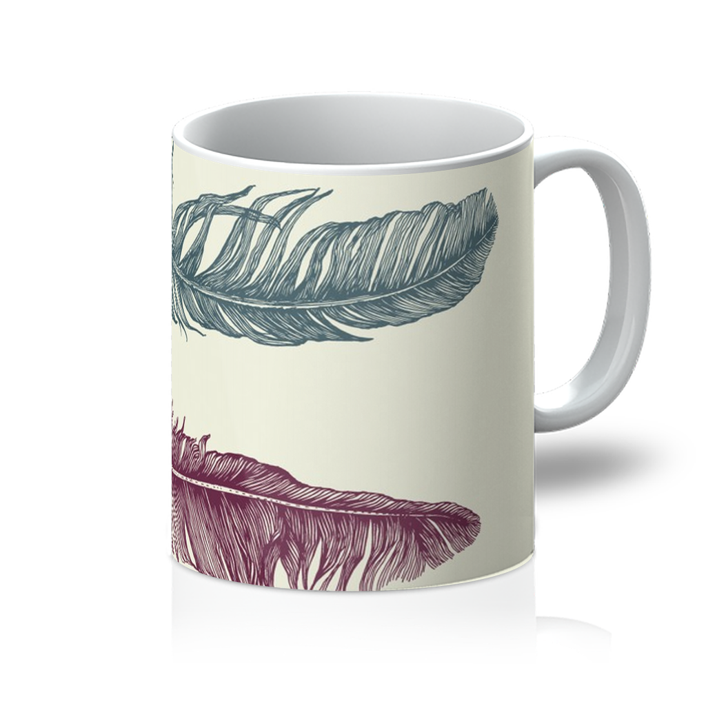 Colourful Feathers Mug