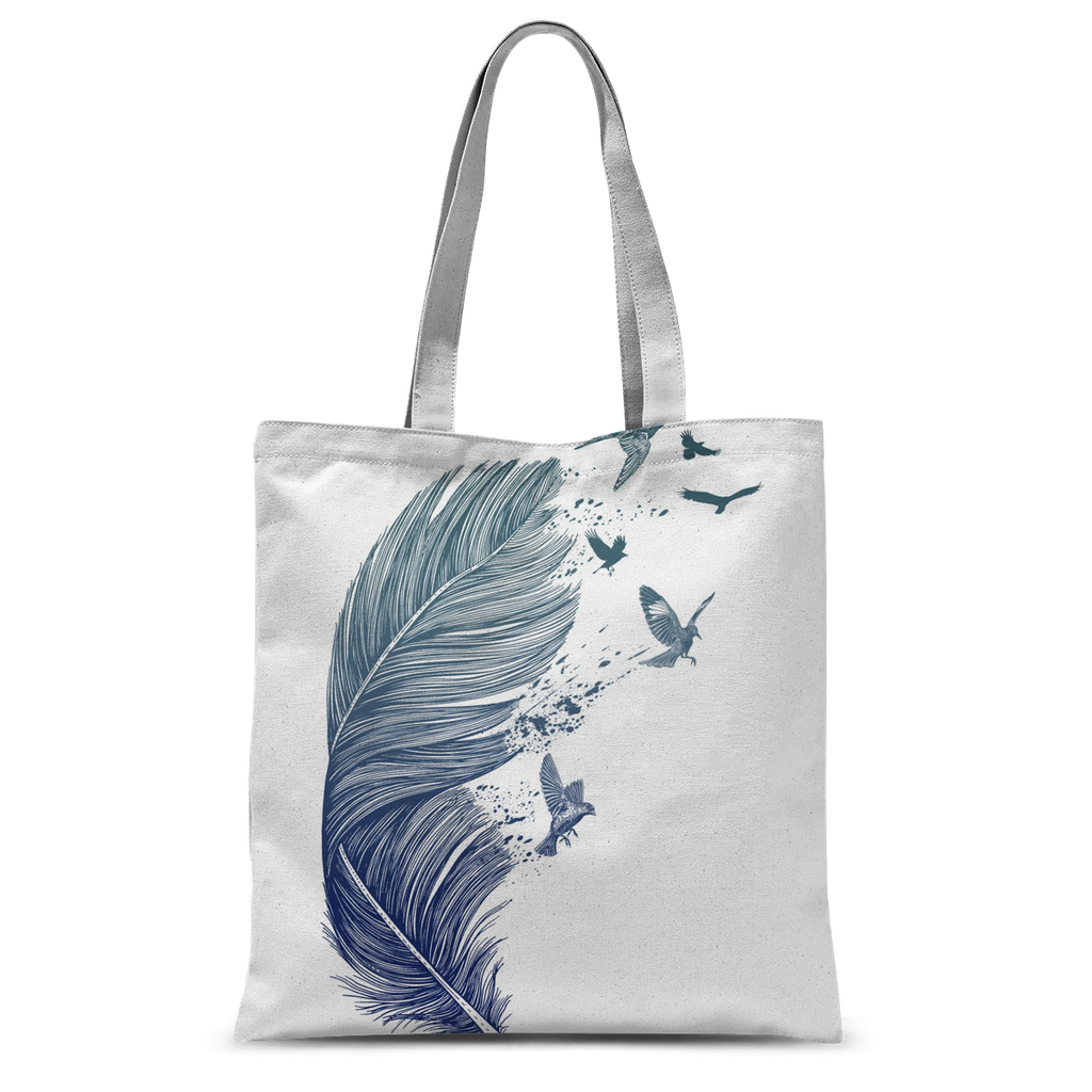 Birds & Feather Tote Bag-Accessories- Space & Shape