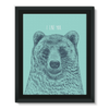 'I Like You' Bear Framed Canvas (6 Sizes)-Wall Decor- Space & Shape