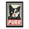 'Purr' Cat Stretched Canvas (5 Sizes)-Wall Decor- Space & Shape