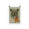 Bear with Scarf Poster (3 Sizes)-Wall Decor- Space & Shape