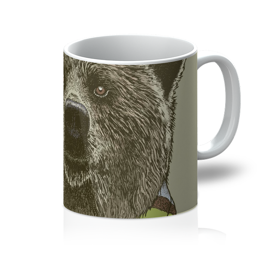 Bear with Scarf Mug-Homeware- Space & Shape