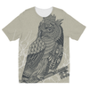 King Owl on Key Kids Sublimation T-Shirt (5 Sizes)-Apparel- Space & Shape