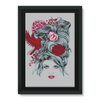 Girl with Roses Framed Canvas (4 Sizes)