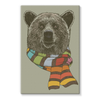 Bear with Scarf Stretched Canvas (4 Sizes)-Wall Decor- Space & Shape