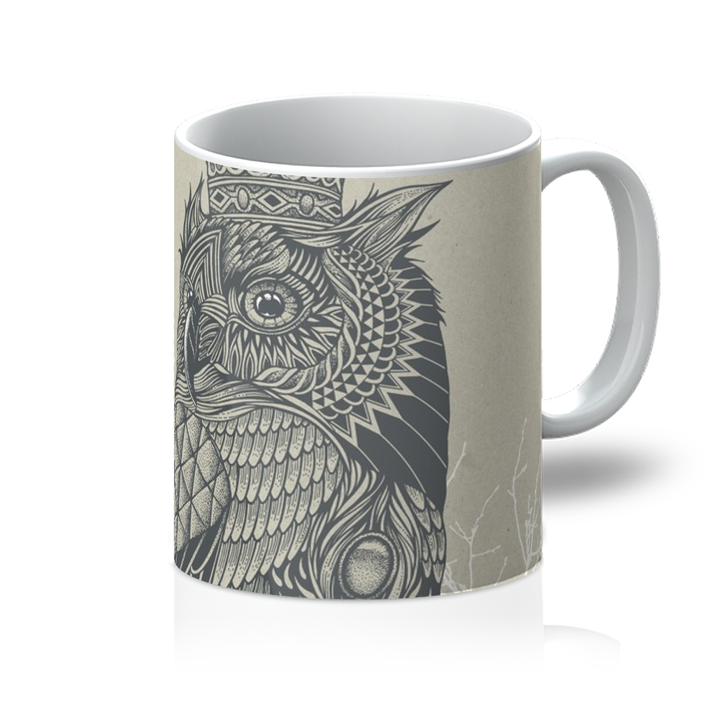 King Owl on Key Mug