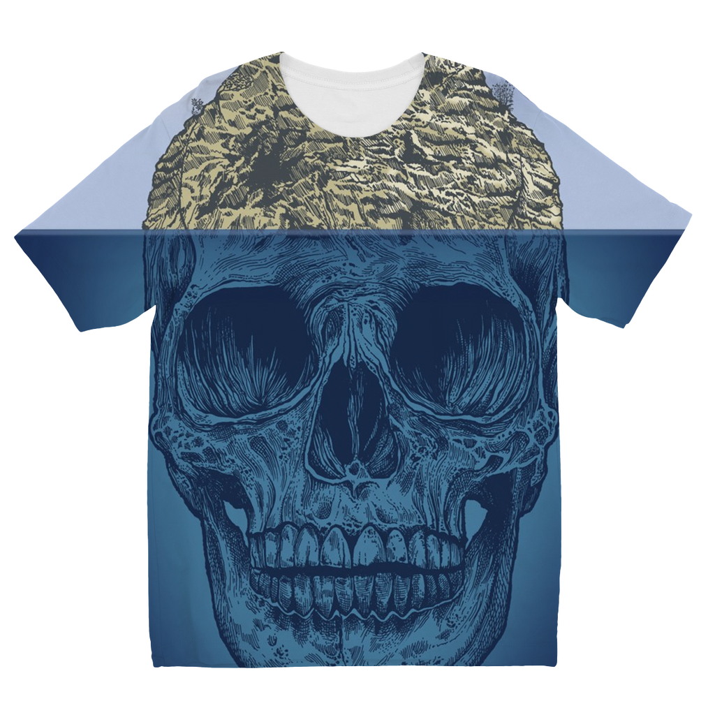 Island Skull Kids Sublimation T-Shirt (5 Sizes)-Apparel- Space & Shape