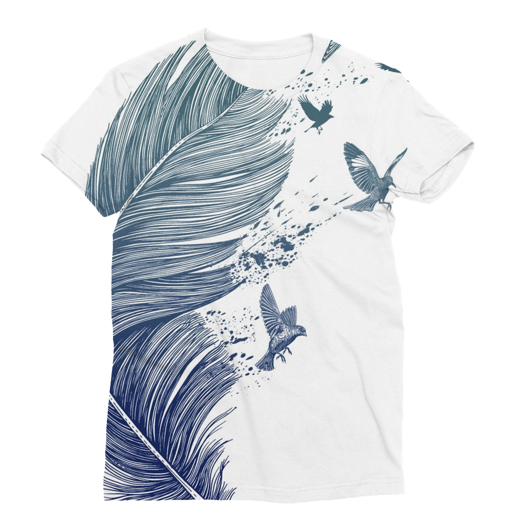 Birds & Feather Unisex Sublimation T-Shirt (5 Sizes)