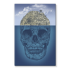 Island Skull Stretched Canvas (4 Sizes)-Wall Decor- Space & Shape