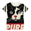 'Purr' Cat Unisex Sublimation T-Shirt (5 Sizes)-Apparel- Space & Shape