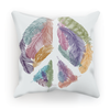 Feather & Peace Symbol Cushion (6 Variants)