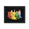 Ice Pops Framed Canvas (8 Sizes)