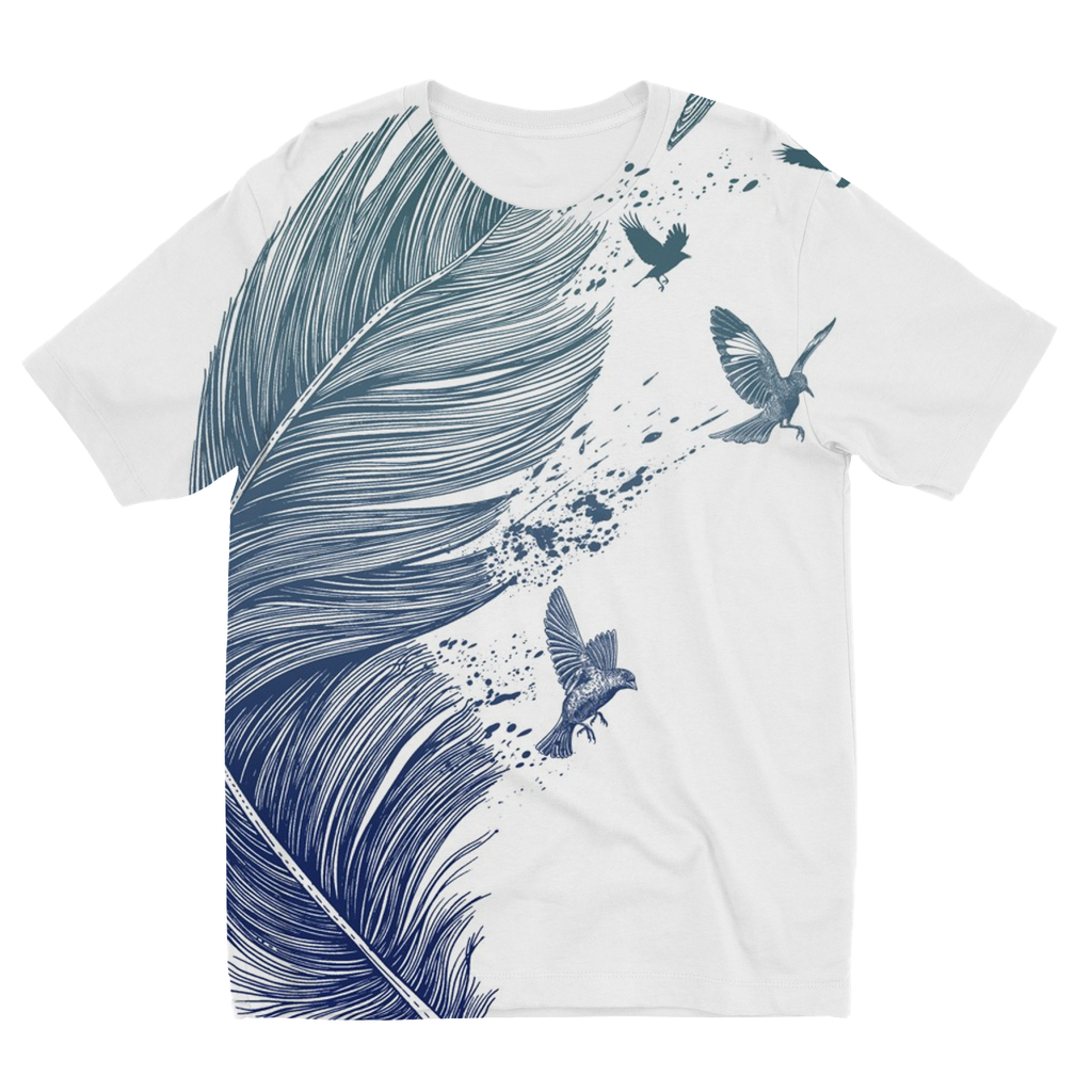 Birds & Feather Kids Sublimation T-Shirt (5 Sizes)