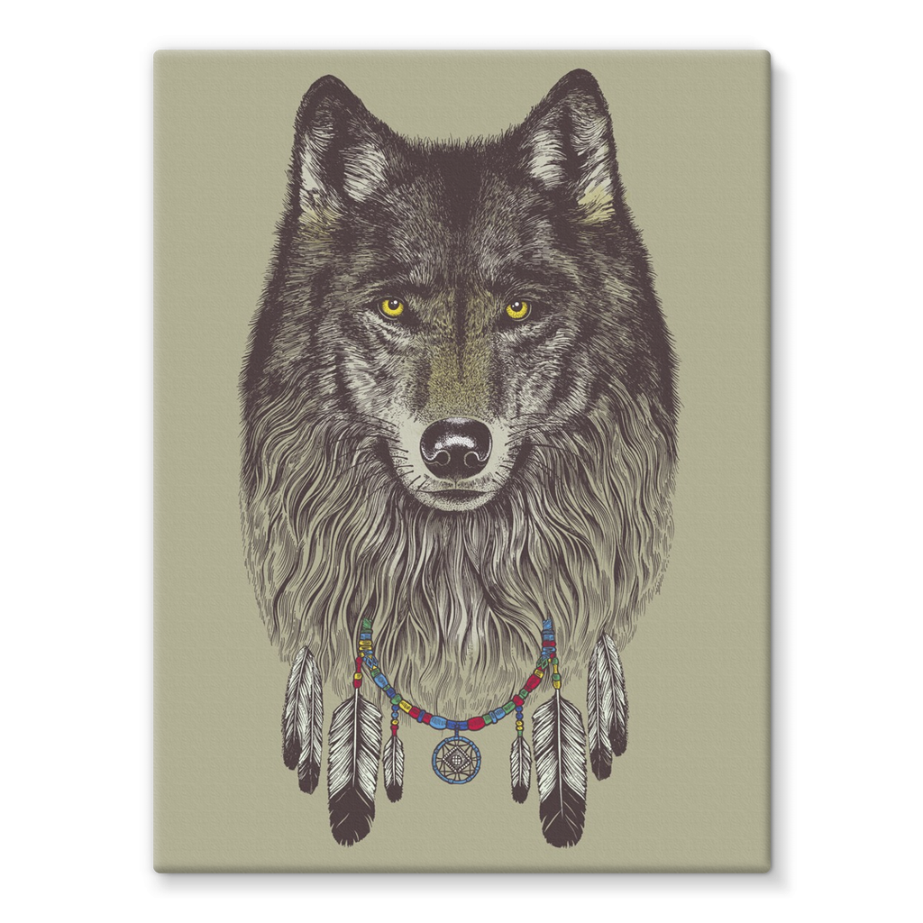 Wolf Stretched Canvas (4 Sizes)